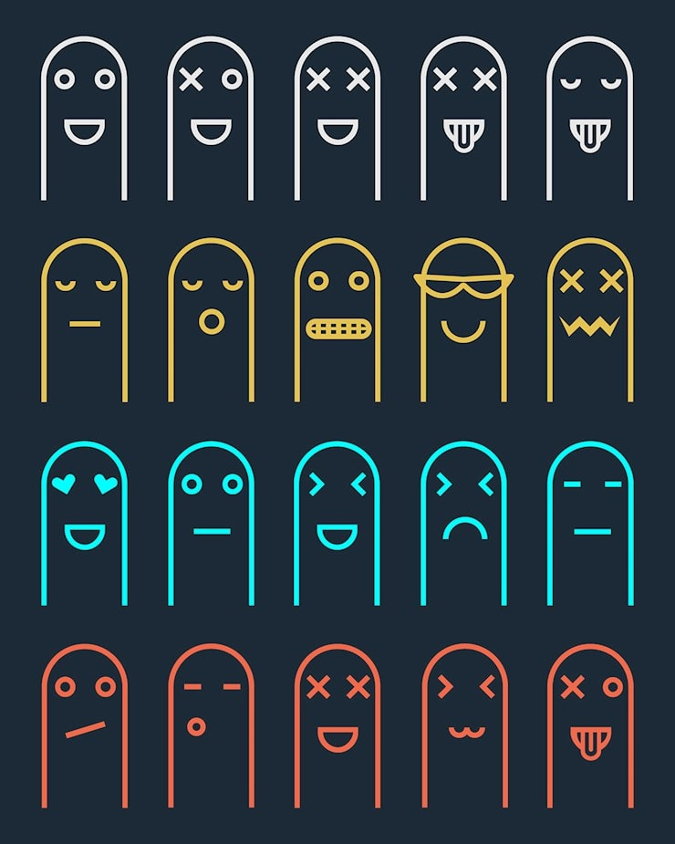 40+ Free and Modern Emoji Icon Sets to Download - Hipsthetic