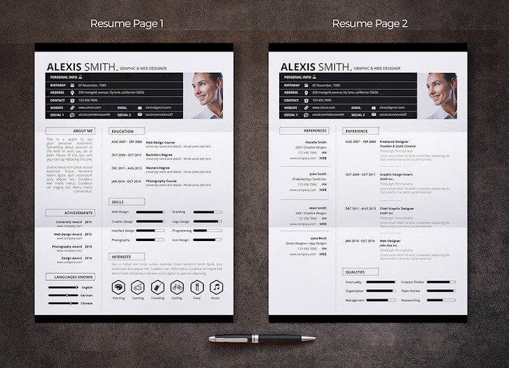 page-resume-template