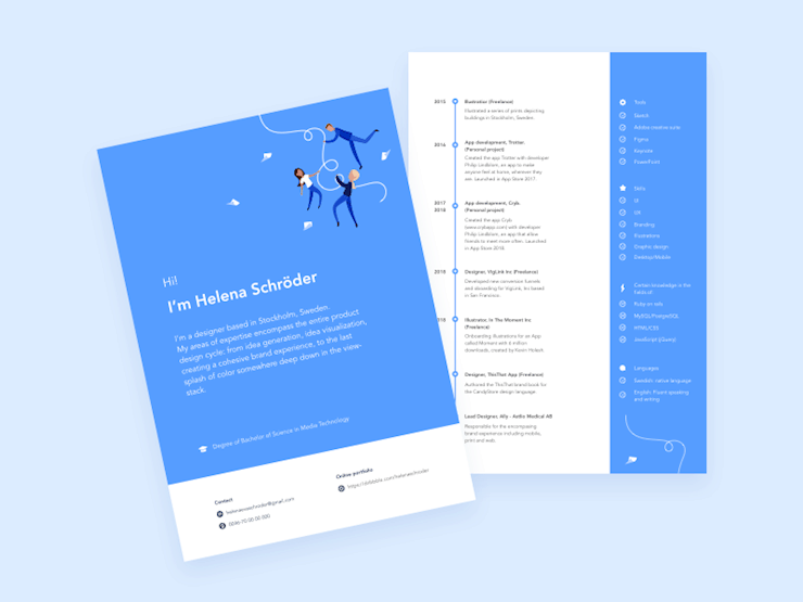 70 Creative Beautiful Resume Examples To Get Inspired Hipsthetic