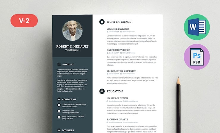 robert-free-resume-template