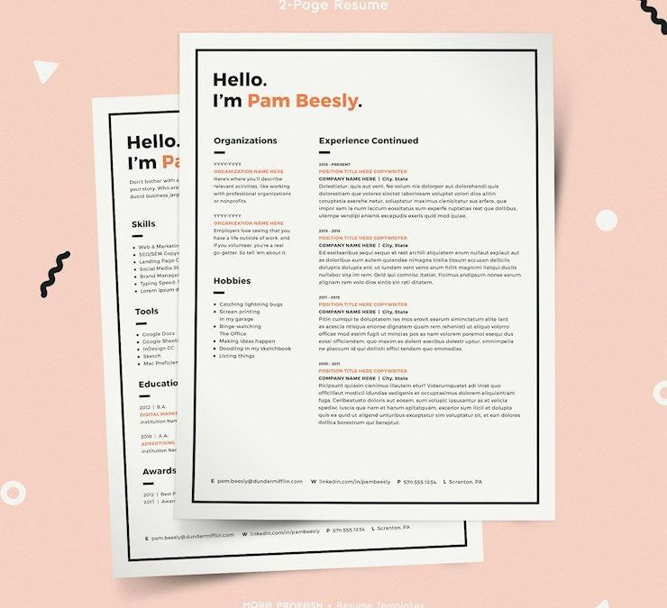 43 Beautiful CV Templates To Land a Job