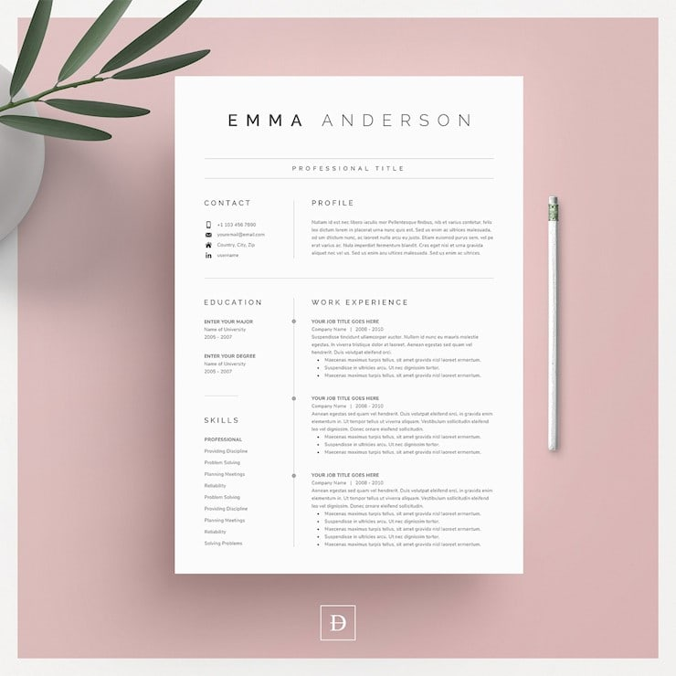 word-resume-cover-letter